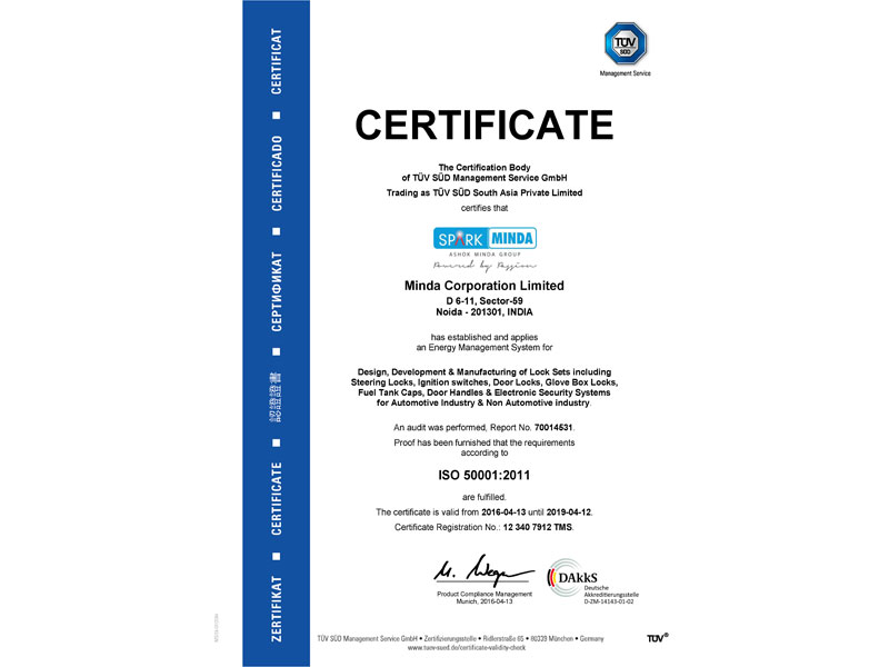 ISO 50001 : 2011