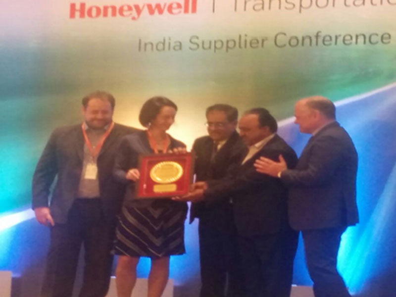 Best delivery supplier award from Honeywell