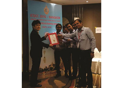Quality Control Gold Award from ICQCC, Bangkok