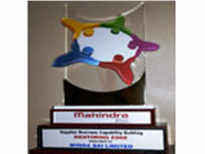 Award for Supplier Capability Building from Mahindra & Mahindra Ltd., 2014 -15