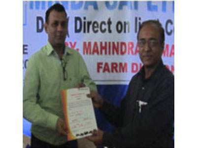 Minda SAI - Murbad recertified for Direct On Line scategory by Mahindra & Mahindra Ltd. (Farm Division) on 16th July, 2013