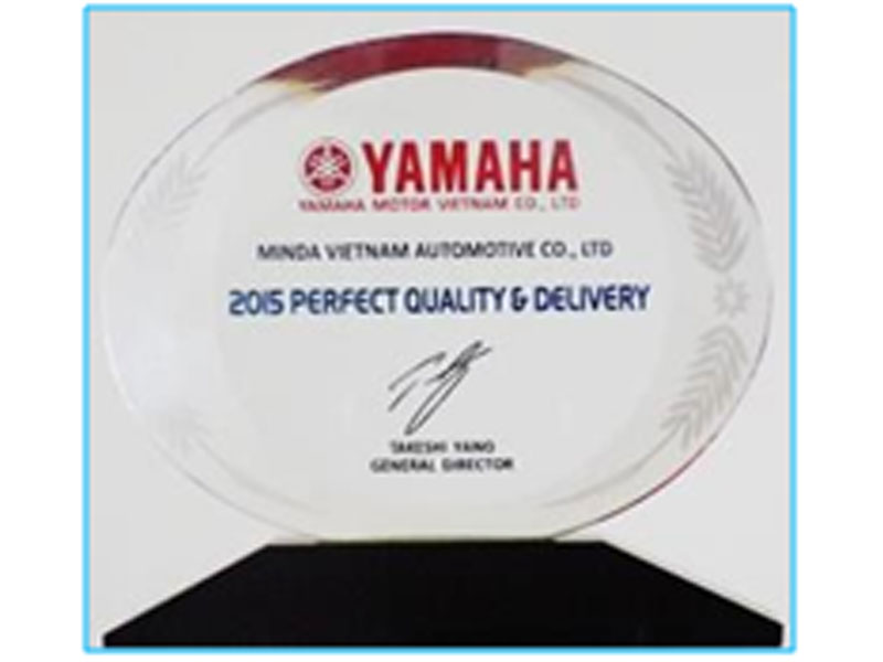 Award for Perfect Quality & Delivery