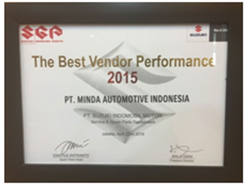 Award for Best Vendor Performance